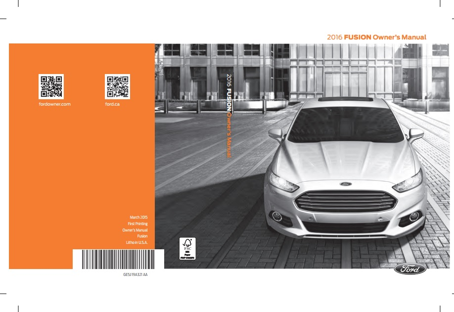 Download Ford Fusion 2016 owners manual / Zofti - Free downloads