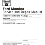 ford mondeo repair manual