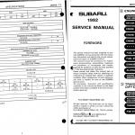 free subaru manual
