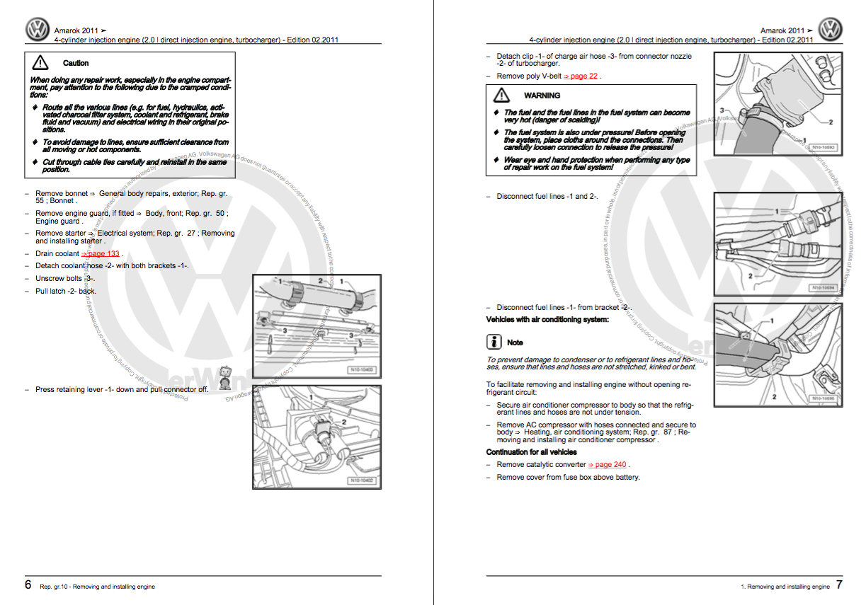 Volkswagen Amarok Service And Repair Manual - Zofti