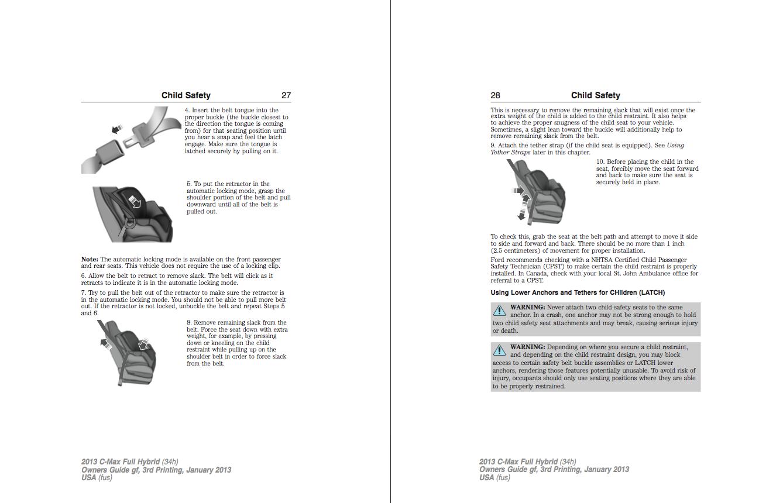 2013 c max owners manual