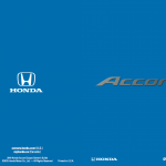 honda accord user guide