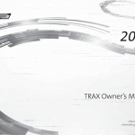 Chevrolet Trax owner's manual