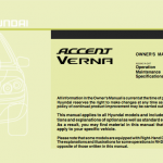 Download Hyundai Accent user guide