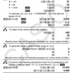 Manuals of calculator casio