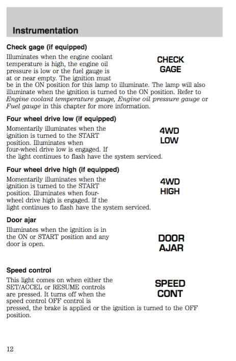 2000 Ford Ranger Owners Manual - Zofti