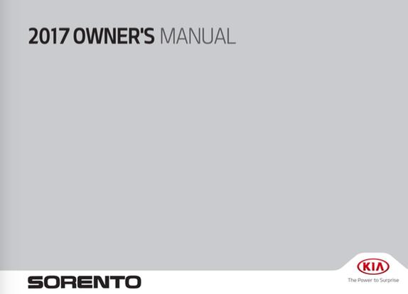 download 2017 kia sorento owners manual    zofti