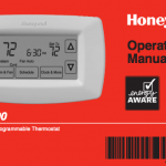 Honeywell thermostate operating manual