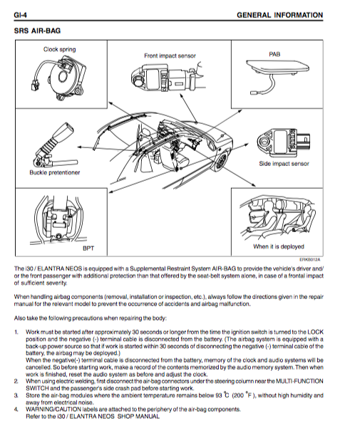 Hyundai I30 Service And Body Repair Manual - Zofti
