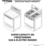 Whirlpool 465 instructions