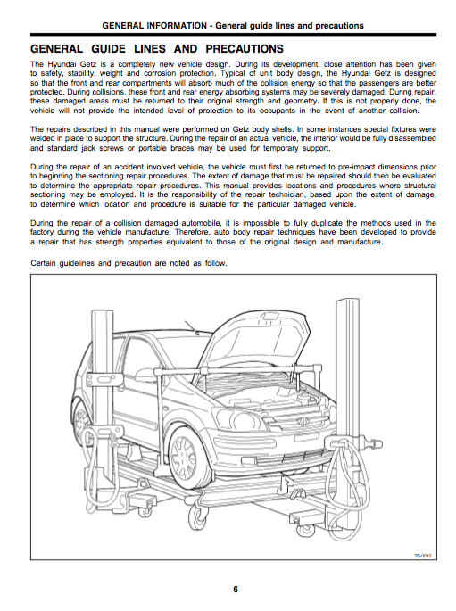 Hyundai Getz Body Service And Repair Manual - Zofti