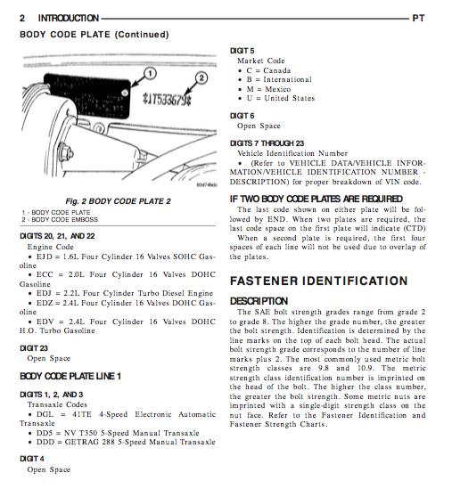 Chrysler Pt Cruiser Service And Repair Manual