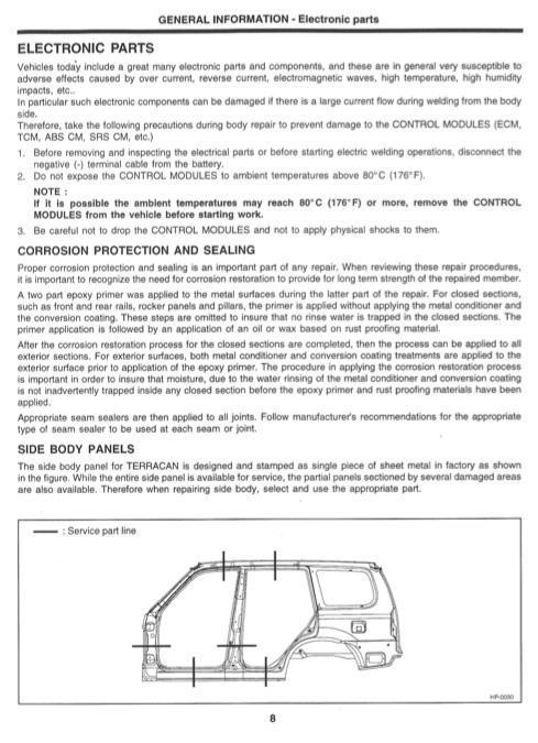 Hyundai Terracan Body  U0026 Repair Manual - Zofti