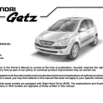 2009 hyundai getz user's guide
