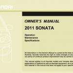 Hyundai Sonata handbook user's guide