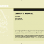 Hyundai owner's manual