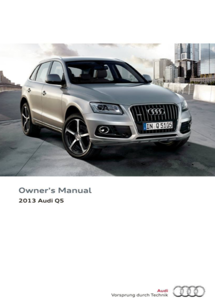 download 2013 audi q5 owner s manual zofti free downloads rh en zofti com Audi A4 Owner's Manual Audi SUV