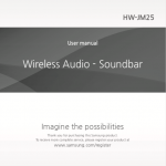 Samsung HW-JM25 manual index