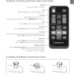 Samsung HW-JM25 manual remote control