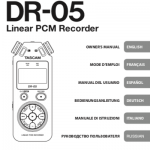 TASCAM DR-05 page manual